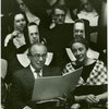 Richard and Dorothy Rodgers at Manhattanville College of the Sacred Heart at a concert arranged by Mother Morgan for research on The Sound of Music]