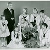 Donald Scott (Captain Georg von Trapp replacement), Nancy Dussault (Maria Rainer replacement) and cast in The Sound of Music]
