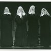 [Eleanor Steber (Mother Abbess, second from left), Bernice Saunders (Sister Sophia), Nadine Lewis (Sister Margaretta) and Jessica Quinn (Sister Berthe) in the 1967 revival of The Sound of Music]