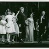 [M'el Dowd (Elsa Schraeder), Bob Wright (Captain Georg von Trapp) and children in the 1967 revival of The Sound of Music]