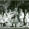 [Lauren Gaffney (Marta), Kelly Karbacz (Louisa), Richard H. Blake (Friedrich), Debby Boone (Maria Rainer), Ted Huffman (Kurt), Mary Mazzello (Gretl), Kia Graves (Brigitta) and Emily Loesser (Liesl) in the 1990 revival of The Sound of Music]