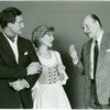 [Laurence Guittard (Captain Georg von Trapp), Debby Boone (Maria Rainer) and Werner Klemperer (Max Detweiler) in the 1990 revival of The Sound of Music]