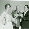 [Marianne Tatum (Elsa Schraeder), Warner Klemperer (Max Detweiler) and Laurence Guittard (Captain Georg von Trapp) in the 1990 revival of The Sound of Music]