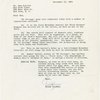 Letter from publicist Frank Goodman to the New York Times, dated Dec. 13, 1961 detailing information about No Strings