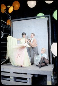 [Diahann Carroll (Barbara Woodruff), Alvin Epstein (Luc Delbert) and Noelle Adam (Jeanette Valmy) in No Strings]