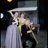 [Polly Rowles (Mollie Plummer), Bernice Massi (Comfort O'Collins) and James Dahl (Trombone Instrumental Character) in No Strings]