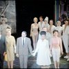 Mitchell Gregg (Louis de Pourtal), Polly Rowles (Mollie Plummer), Richard Kiley (David Jordon), Diahann Carroll (Barbara Woodruff), Bernice Rossi (Comfort O'Collins) and cast take curtain call in stage production No Strings