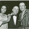 [Diahann Carroll (Barbara Woodruff), Richard Rodgers (music) and Richard Kiley (David Jordon) backstage at No Strings]