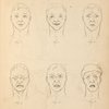 [Male face showing different facial expressions.]