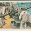 Working a mordenfelt gun, 1905