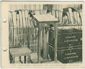 The Chained Books at Wimborne, Dorset.