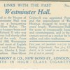 Westminster Hall, London.