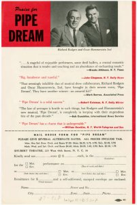 [Flyer and mail order form for Pipe Dream]