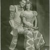 Chester Stratton (Sir Galahad) and Vera-Ellen (Mistress Evelyn La Belle-Ans) in the 1943 revival of A Connecticut Yankee]