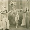 Unidentified actress, Robert Byrn (Sir Kay, The Seneschal) and Mimi Berry (Angela, Hand-maiden to Queen Morgan La Fay) in the 1943 revival of A Connecticut Yankee]