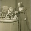 Dick Foran (Martin) and Vivienne Segal (Queen Morgan Le Fay) in the 1943 revivial of A Connecticut Yankee]