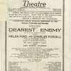 George Ford presents Dearest Enemy An American musical comedy with Helen Ford and Charles Purcell...