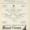 [Program for the opening night (4/13/1936) of On Your Toes]