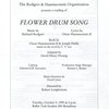 [Program for a reading of Flower Drum Song on Oct. 5, 1999 at Ballet Tech Studios (New York, N.Y.) in preparation for the tour and the 2002 Broadway revival]
