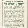 Opening of Parliament, The Commons Procession to the House of Lords.