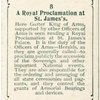 A Royal Proclamation at St. James's.
