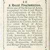 A Royal Proclamation.