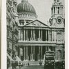Ludgate Hill and St. Pauls, London.