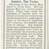 Gemini, the Twins.