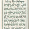 Libra, the Balance.
