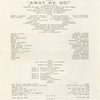 Program for Away We Go!, dated March 15, 1943, at the Colonial Theatre (Boston, Mass.)