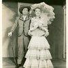 Joseph Buloff (Ali Hakim) and Celeste Holm (Ado Annie) in Oklahoma!]