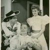 Alfred Drake (Curly), Betty Garde (Aunt Eller) and Joan Roberts (Laurey) in Oklahoma!]