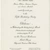 [Invitation from the Theatre Guild to a party (March, 31, 1948) celebrating the fifth anniversary of Oklahoma!]