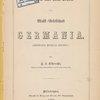Skizzen aus dem Leben der musik-Gesellschaft Germania. (Title page)