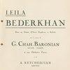 Leila Bederkhan dance program