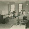 Five nurses in laboratory.