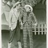 [Walter Donahue (Will Parker) and Jerry Mann (Ali Hakim) in the 1951 revival of Oklahoma!]