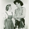 [Patricia Northrup (Laurey) and Ridge Bond (Curly) in the 1951 revival of Oklahoma!]