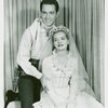 [Ridge Bond (Curly) and Florence Henderson (Laurey) in the 1953 revival of Oklahoma!]