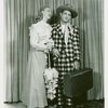 [Judy Rawlings (Gertie Cummings) and David LeGrant (Ali Hakim) in the 1953 revival of Oklahoma!]