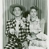 [David LeGrant (Ali Hakim) and Barbara Cook (Ado Annie) in the 1953 revival of Oklahoma!]