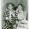 [David LeGrant (Ali Hakim) and Barbara Cook (Ado Annie) in the 1953 revival of Oklahoma!]