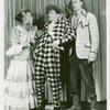 [Barbara Cook (Ado Annie), David LeGrant (Ali Hakim) and Harris Hawkins (Will Parker) in the 1953 revival of Oklahoma!]