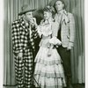 [David LeGrant (Ali Hakim), Barbara Cook (Ado Annie) and Harris Hawkins (Will Parker) in the 1953 revival of Oklahoma!]