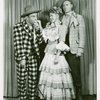 [David LeGrant (Ali Hakim), Barbara Cook (Ado Annie) and Harris Hawkins (Will Parker) in the 1953 revival of Oklahoma!]