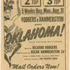 Advertisement for the 1953 revival of Oklahoma!