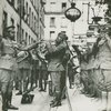 James Reese Europe and the 369th Infantry Regiment Band playing outside an American Red Cross Hospital, Paris