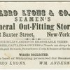 Albro Lyons and Company business card