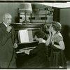 [Lew Fields (Franz Henkel), Eva Puck (Stella Mallory) and Betty Weston (Elsa Henkel) in The Melody Man]
