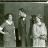 [Eva Puck (Stella Mallory), Fredric March (Donald Clemens) and Betty Weston (Elsa Henkel) in The Melody Man]